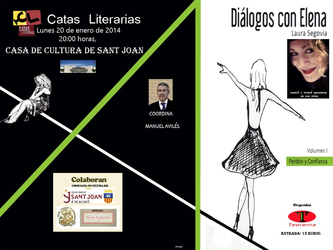 Cartel Diálogos con Elena.